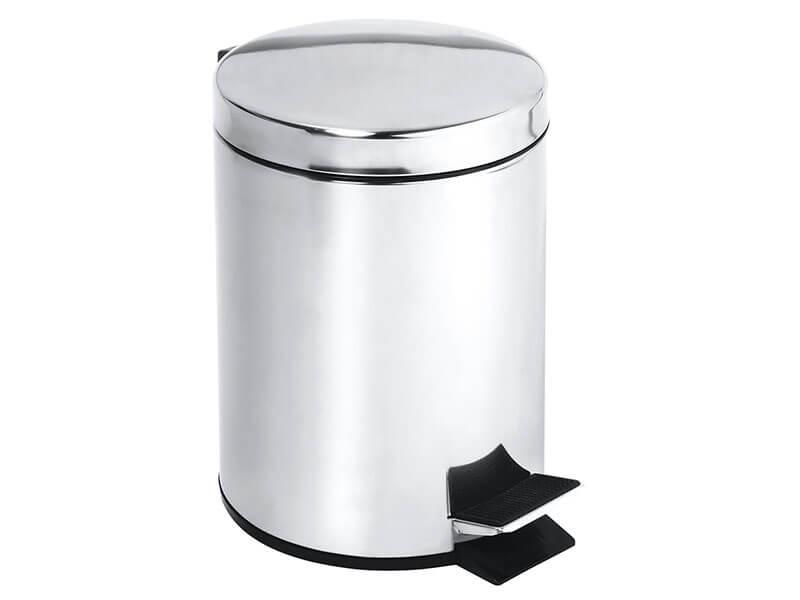 Odpadkový koš Bemeta Objem 5 litrů, nerez mat