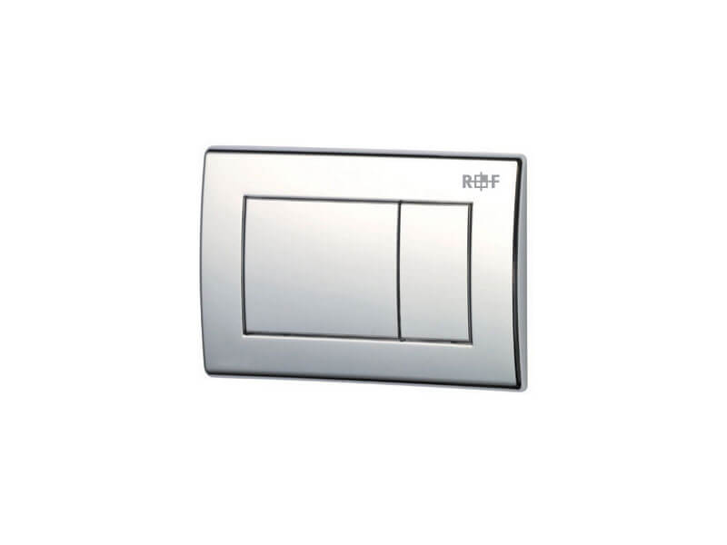 Ovládací deska PLANO Dual flash, plast, barva chrom