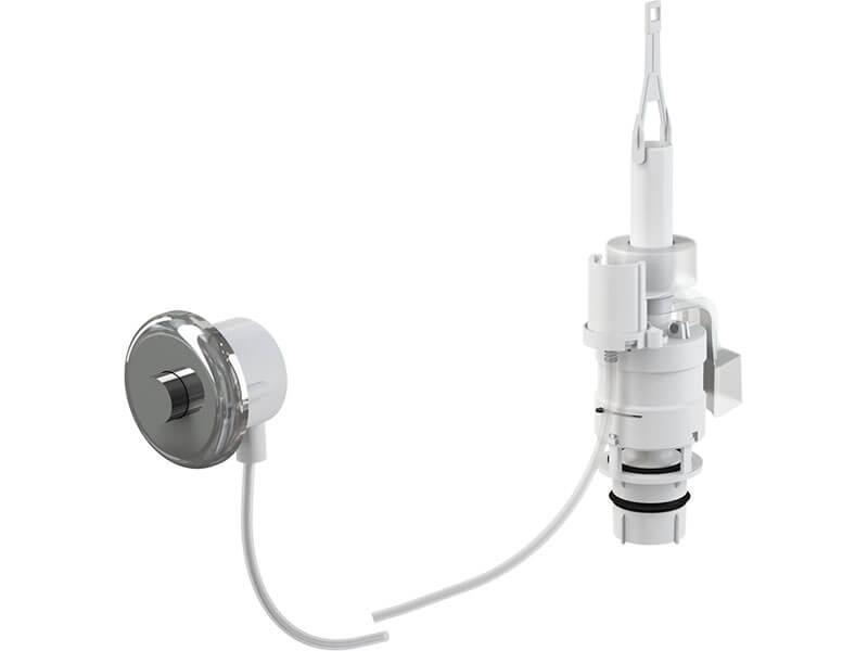 Tlačítko pro vzdálené splachování Alcaplast Pneumatické splachování, chrom-lesk, do zdi