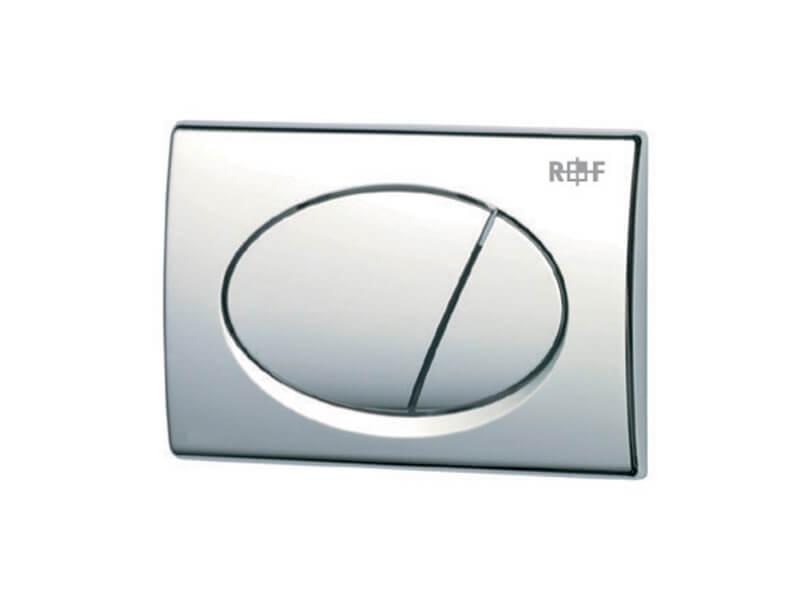 Ovládací deska PLANO Dual flush, plast, barva chrom