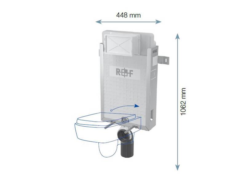 Instalační modul PLANO pro WC Modul pro závěsné WC, pro zazdení na pevnou zeď