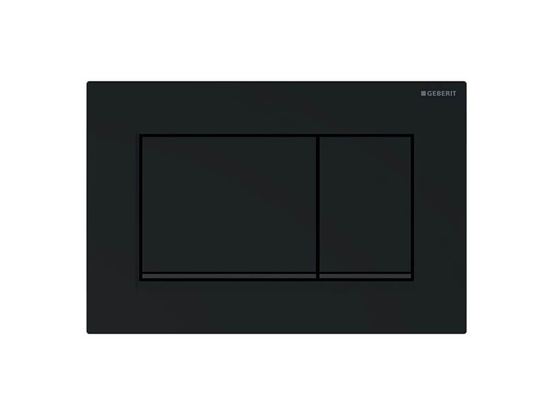 Deska ovládací GEBERIT Dual flush, materiál plast, barva černá matná easy to clean