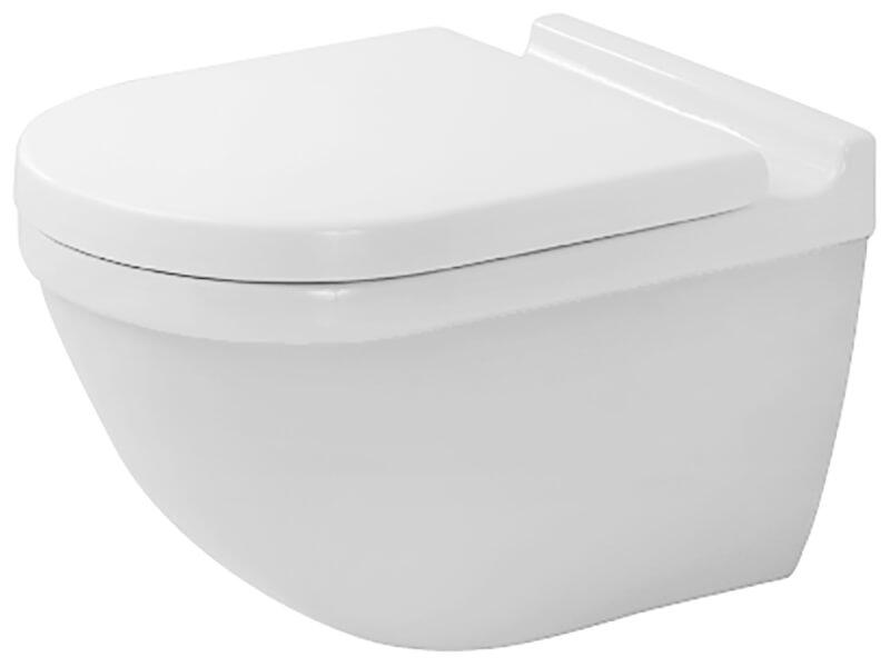 WC závěsné STARCK 3 RIMLESS, barva bílá