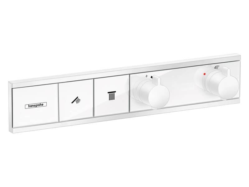 Sprchová baterie HANSGROHE Rainselect pro 2 spotřebiče, vrchní díl, barva bílá matná