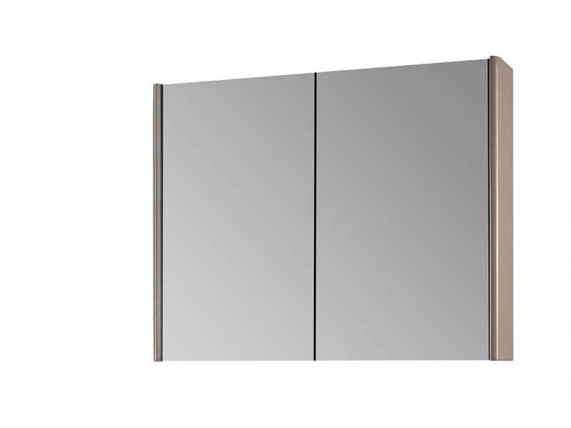 Skříňka zrcadlová ENZO Skříňka s LED osvětlením, příkon: 31W, 2x dvířka, barva béžová matná