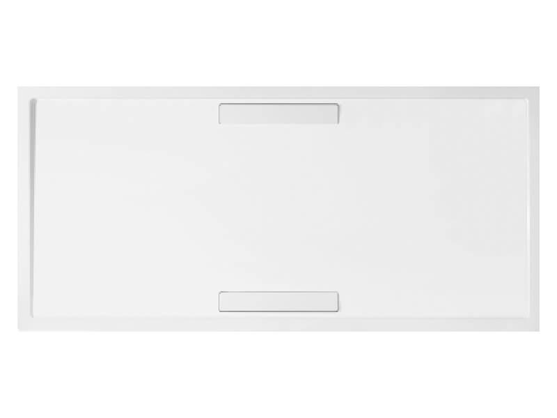 Vanička sprchová Villeroy&Boch-Squaro Obdélníková vanička, materiál quaryl, barva bílá