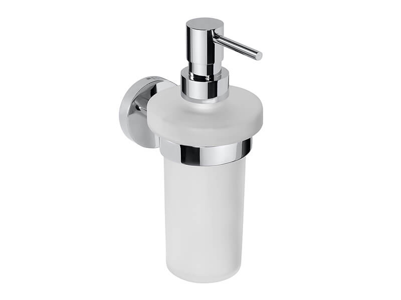 Dávkovač mýdla s držákem OMEGA Barva: sklo/chrom