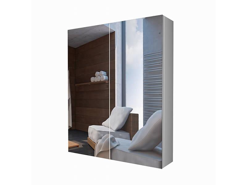 Skříňka zrcadlová DAVOS 2x dvířka, barva bílá