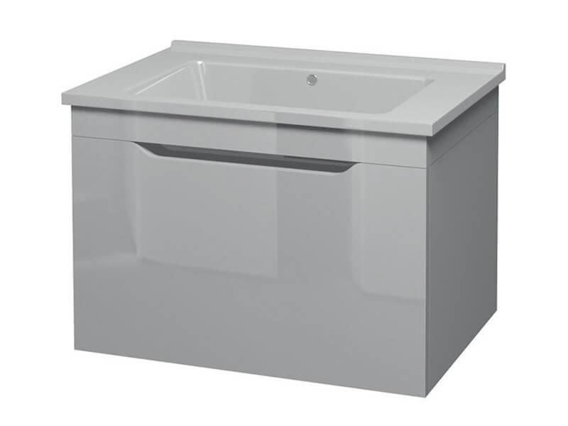 Skříňka s umyvadlem DAVOS Závěsná, 1x zásuvka, barva bílá