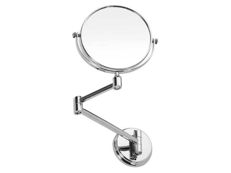 Zrcátko kosmetické DAVOS RING Průměr 15 cm, barva: sklo/chrom
