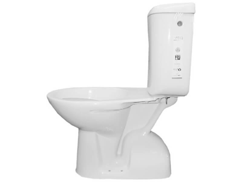 WC kombi PLANO WC včetně nádržky, svislý odpad, barva bílá