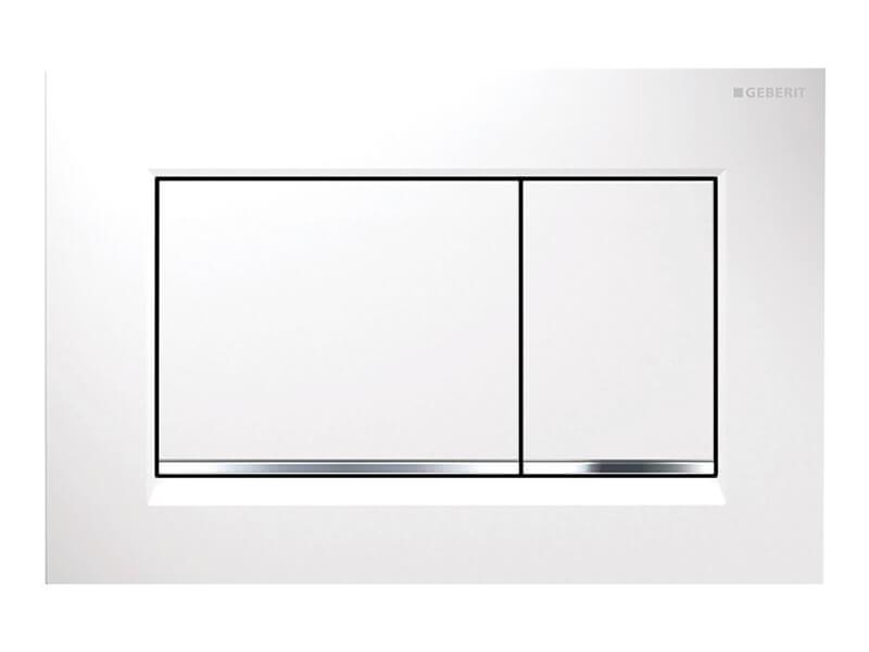 Deska ovládací GEBERIT Dual flush, plast, barva: bílá/chrom