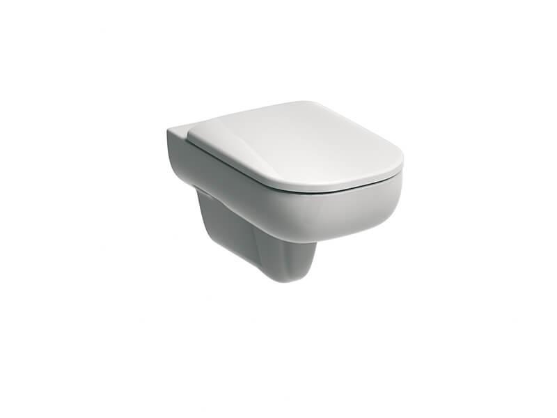 Závěsné WC SMYLE SQUARE Rimfree, barva bílá