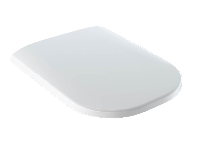 WC sedátko SMYLE SQUARE Zpomalovací / duroplast, barva bílá