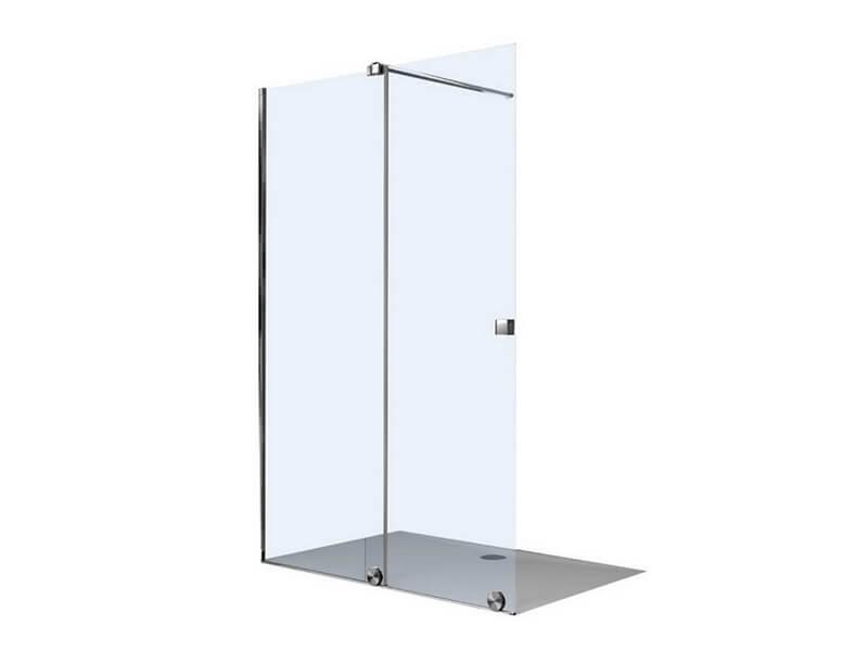 Sprchová zástěna Walk In X TENSA Posuvné dveře, čiré sklo s úpravou AntiPlaque, barva rámu stříbrná lesklá