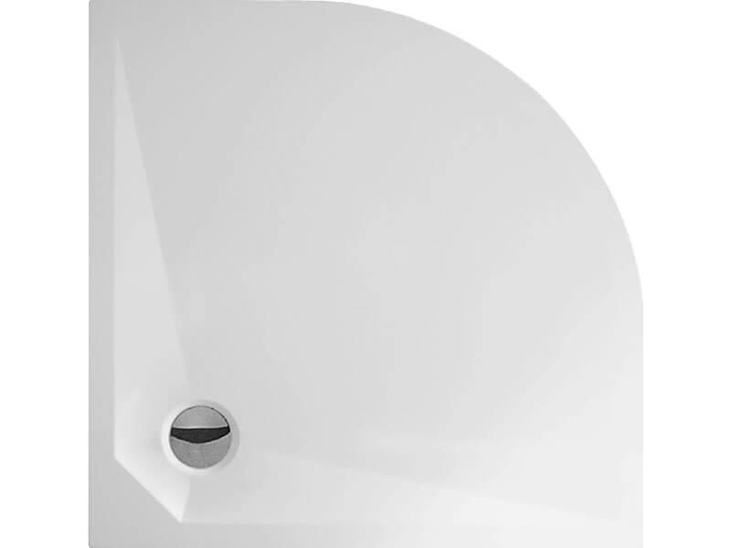 Vanička sprchová DAVOS PLUS 1/4 kruh, litý mramor, rádius R550, barva bílá