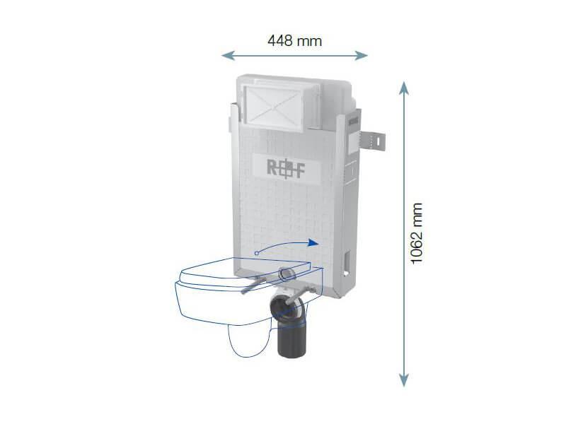 Modul instalační PLANO pro WC Pro závěsné WC, pro zazdění na pevnou zeď